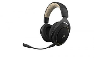 CORSAIR HS70 SE Wireless – 7.1 Surround Sound Gaming Headset – Discord Certified Headphones – Cream