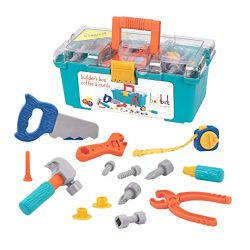 Battat Builders Box Contractor Toy Playset for Kids (15 pieces)