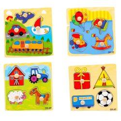 Baby Toddler Intelligence Development Animal Wooden Brick Puzzle Educational Toy