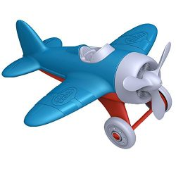 Green Toys Airplane – BPA, Phthalates Free, Blue Air Transport Toy for Introducing Aeronautical Knowledge, Improving Grasping Power. Toy Vehicles