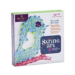 Ann Williams Group Craft-tastic String Art Kit III – Craft Kit Makes 3 Large String Art Canvases