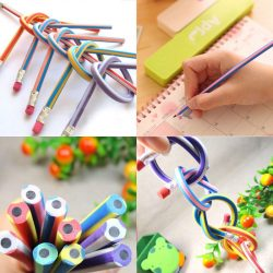 Preschool Baby Toys Bendable Soft Pencil Novelty Flexible Pen Safety Funny Learn