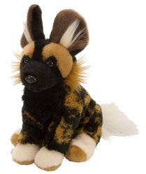 Wild Republic African Wild Dog Plush, Stuffed Animal, Plush Toy, Gifts for Kids, Cuddlekins 8 Inches