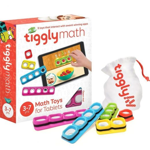Tiggly Math Blocks Interactive Learning Games for Kids 3 to 7 (17710) – New!