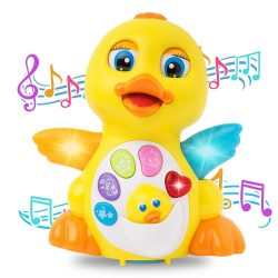 Musical Toddler Toy Interactive Dancing Singing Duck Toy Learning Toys Yellow