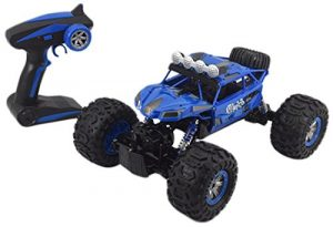 Jovial Wireless Remote Control Rock Crawler RC Monster Truck RTR Off Road Waterproof Toy Car for Any Outdoor Terrain – With Rechargeable Battery Pack & USB charger – Enjoyable for Kids & Teens – JRC20