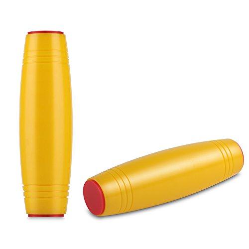 HITASION Flip Tumbler Desktop Toy Fidget Rolling Stick Toy for Kids Teens Adults (Yellow)