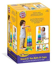 Small World Toys IQ Baby – Stack o' Fun Balls and Cups Set B/O