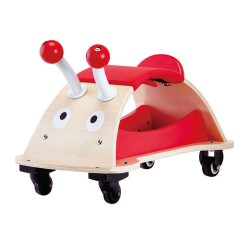 Hape Kids Wooden Lady Bug Learning and Development Push and Pull Scooter Toy