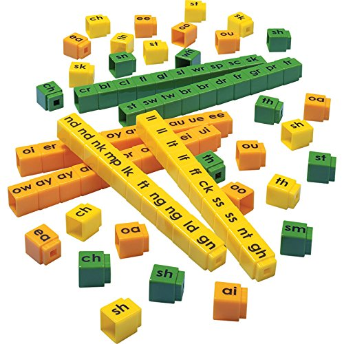 Didax Educational Resources Unifix Letter Blends Cubes Set