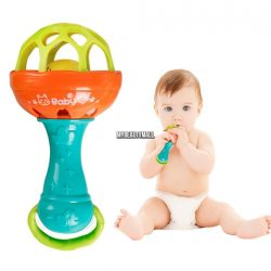 New Cute Baby Kids Sound Music Gift Toddler Rattle Musical Wooden Colorful Toys