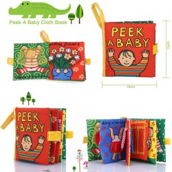 3x Intelligence Soft Cloth Book Educational Development Toy for Kid Newborn Baby