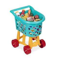 Battat Grocery Shopping Cart Toy for Toddlers (23 pieces)