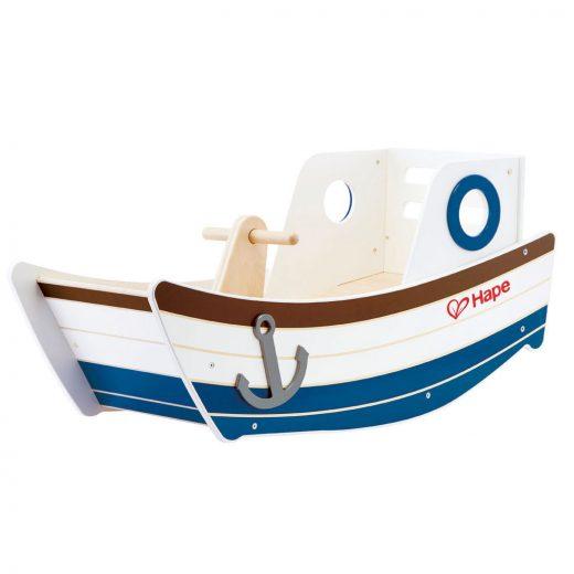 Hape High Seas Early Explorer Wooden Rocker Rocking Ride On Toddler Toy Boat