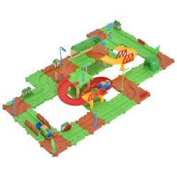 77PCS B/O Kids Child Plastic Brick Toys Electronic Building Blocks Railway Train