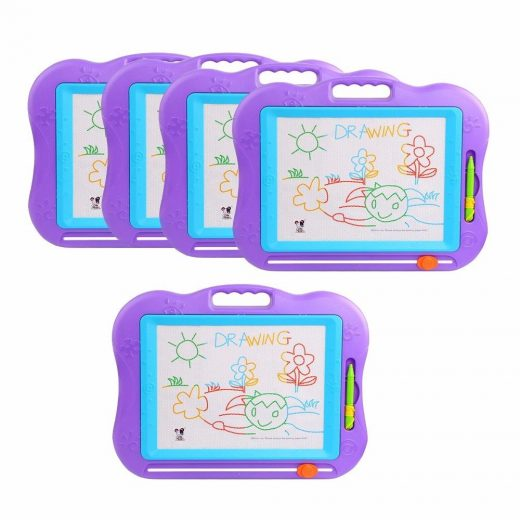 5pcs Kids Drawing Board Magnetic Writing Sketch Pad Erasable Magna Doodle Child