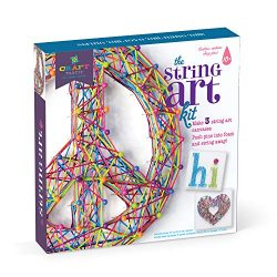 Craft-tastic – Peace Sign String Art Kit – Craft Kit– Arts and Crafts for Tweens and Teens l Makes 3 Large String Art Canvases – Easy to Use – Ages 10+