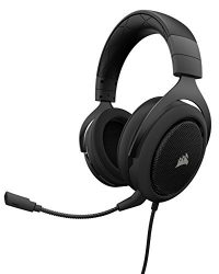 Corsair HS60 – 7.1 Virtual Surround Sound PC Gaming Headset w/USB DAC – Discord Certified Headphones – Compatible with Xbox One, PS4, and Nintendo Switch – Carbon