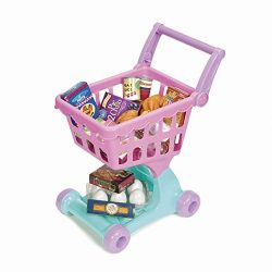 Play Circle by Battat – Shopping Day Grocery Cart – 30-piece Toy Shopping Cart and Pretend Food Playset – Grocery, Kitchen and Food Toys for Toddlers Age 3 Years and Up