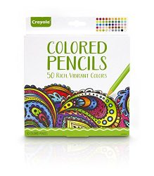Crayola Colored Pencils, Pre-sharpened, Great for Adult Coloring, 50 Count