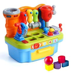 Woby Multifunctional Musical Learning Tool Workbench Toy Set for Kids with Shape Sorter Tools