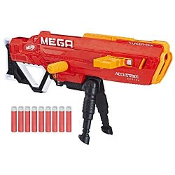 Nerf Thunderhawk AccuStrike Mega Toy Blaster – Longest Blaster – 10 Official AccuStrike Mega Darts, 10-Dart Clip, Bipod – for Kids, Teens, and Adults