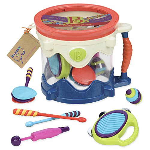 B. toys- B. Drumroll – Toy Drum Set (Includes 7 Percussion Instruments for Kids)