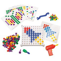 Educational Insights Design & Drill Activity Center – Perfect STEM Toy for Age 3-6 with Kid Friendly Working Drill