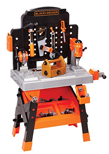 BLACK+DECKER Junior Power Workbench Workshop with Realistic Action Lights & Sounds – 75 Tools & Accessories [Amazon Exclusive]