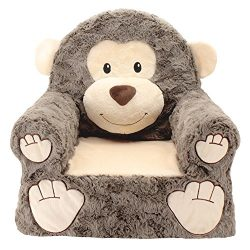 Sweet Seats | Brown Monkey Children's Chair | Large Size | Machine Washable Cover