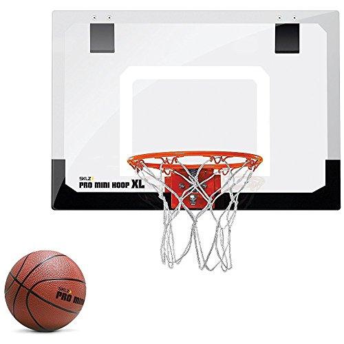 "SKLZ Pro Mini Basketball Hoop W/ Ball. 23""x16"" Shatter Resistant Backboard"