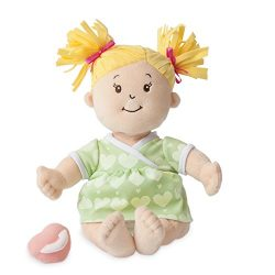 Manhattan Toy Baby Stella Blonde Soft First Baby Doll for Ages 1 Year and Up, 15″