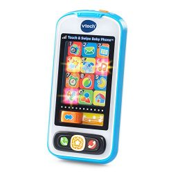 VTech Touch and Swipe Baby Phone Amazon Exclusive, Blue