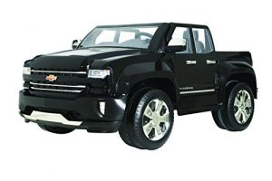 Rollplay 12V Chevy Silverado Truck Ride On Toy, Battery-Powered Kid's Ride On Car – Black
