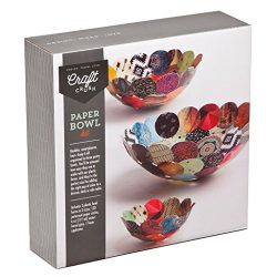 Craft Crush Paper Bowls – Make 3 DIY Different Sized Decorative Bowls – Crafting Kit for Teens & Adults
