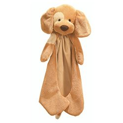 Baby GUND Spunky Huggybuddy Stuffed Animal Plush Blanket, Beige, 15″