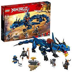 LEGO 6212692 Ninjago Masters of Spinjitzu: Storm Bringer 70652 Ninja Toy Building Kit with Blue Dragon Model (493 Piece), Multicolor