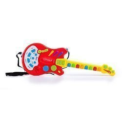 Dimple Toy Electric Guitar with over 20 Interactive Buttons, Levers and Modes with Sound and Lights by