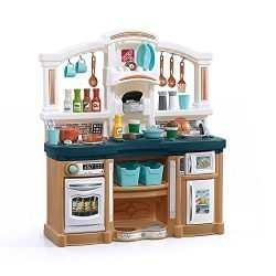 Step2 Fun with Friends Kids Play Kitchen, Tan/Blue