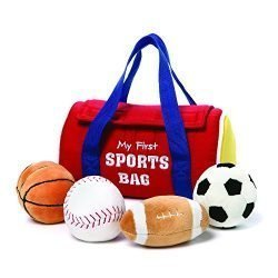 GUND My First Sports Bag Stuffed Plush Playset, 5 Piece, 8″
