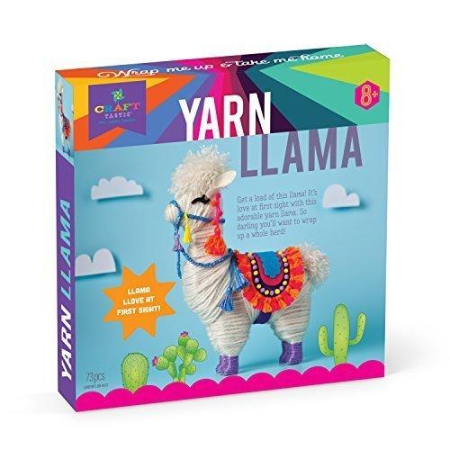 Craft-tastic – Yarn Llama Kit – Craft Kit Makes 1 Yarn-Wrapped Llama