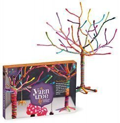Craft-tastic – Yarn Tree Kit – Craft Kit Makes One 18″ Tall Jewelry Organizer