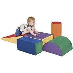 ECR4Kids SoftZone Climb and Crawl Foam Play Set for Toddlers and Preschoolers (5-Piece)
