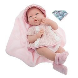 JC Toys La Newborn Real Girl Baby Doll, Rose
