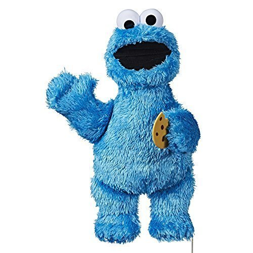 Sesame Street Feed Me Cookie Monster Plush: Interactive 13 Inch Cookie Monster, Says Silly Phrases, Belly Laughs, Sesame Street Toy for Kids 18 Months Old and Up
