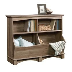 Sauder 420327 Harbor View Bin Bookcase, L: 43.15″ x W: 15.51″ x H: 33.47″Salt Oak finish
