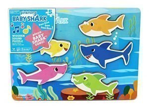 Pinkfong Baby Shark Chunky Wooden Sound Puzzle – Plays The Baby Shark Song