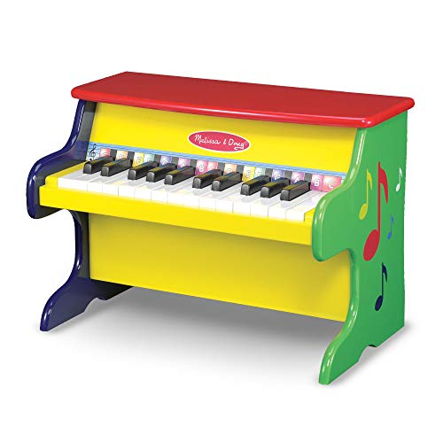 "Melissa & Doug Learn-to-Play Piano, Musical Instruments, Solid Wood Construction, 25 Keys and 2 Full Octaves, 11.5"" H x 9.5"" W x 16"" L"