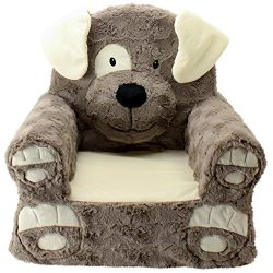 Animal Adventure Sweet Seats | Brown Dog Children's Chair | Large Size | Machine Washable Cover