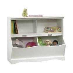 Sauder 414436 Pogo Bookcase/footboard L: 41.10″ x W: 14.49″ x H: 32.84″ Soft White